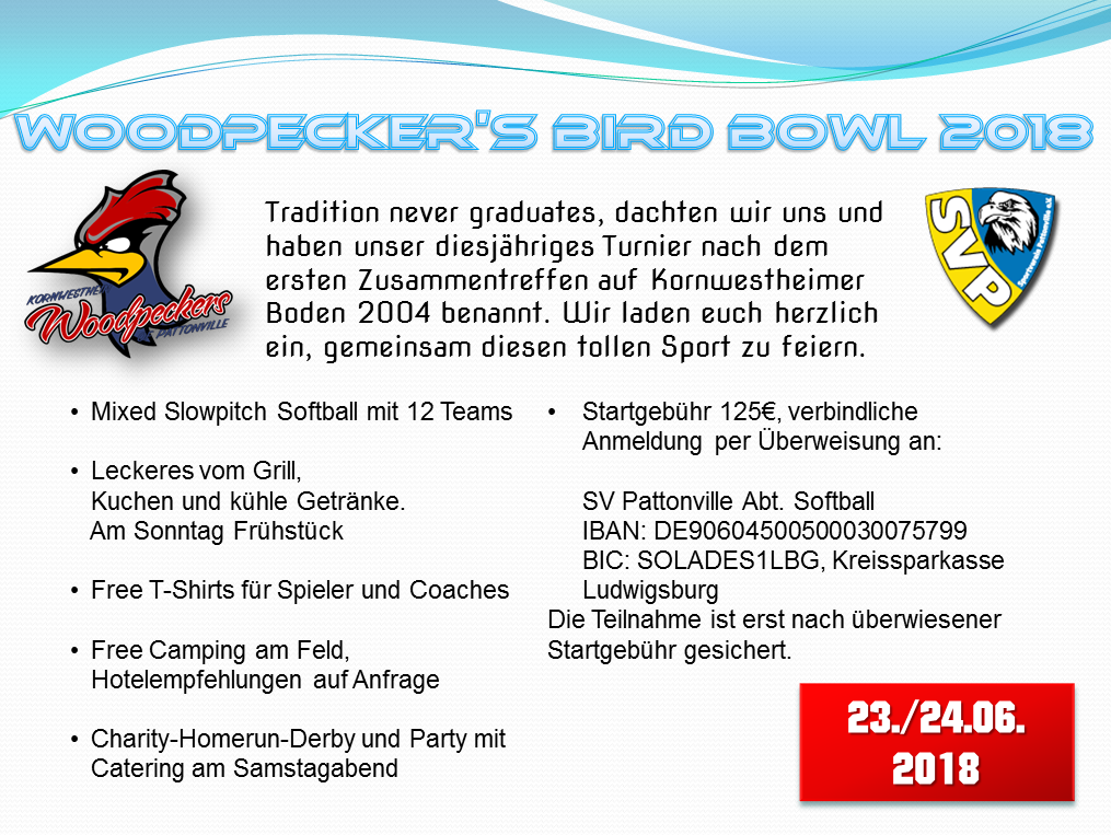 Woodpeckers Bird Bowl 2018 Einladung